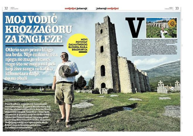 Total Inland Dalmatia Featured in Croatia's Top Sunday Newspaper